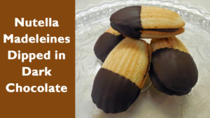 Simple Nutella Madeleine's Dipped in Chocolate