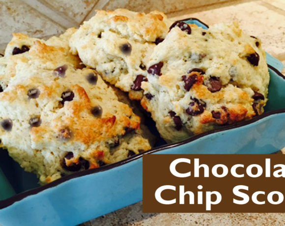 Chocolate Chip Scones – One Bowl Method