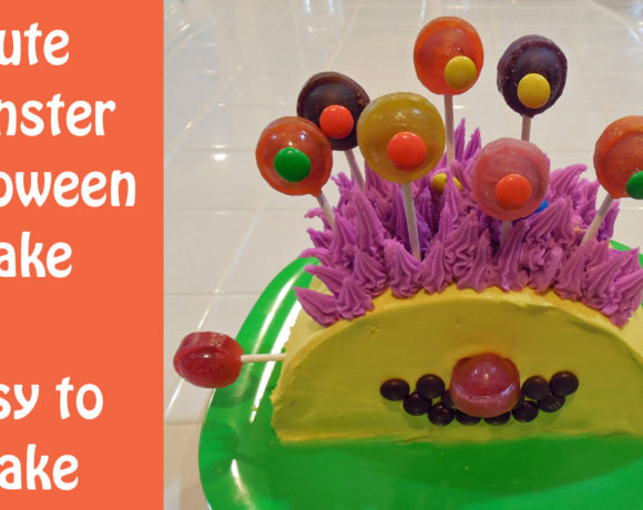 Cute and Simple Monster Halloween Cake
