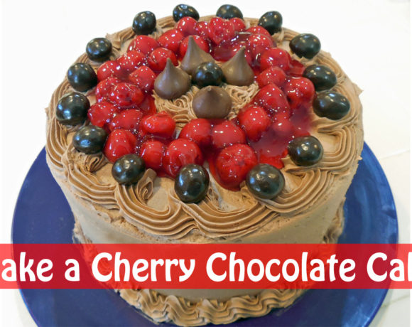 Chocolate Cherry Cake with 3 Ingredients