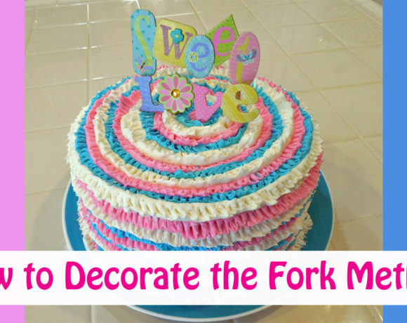 Decorate a Baby Cake with a Fork