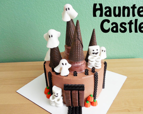 Simple to Make Halloween Haunted Castle Cake