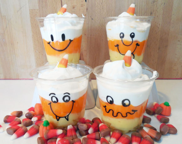 Halloween Candy Corn Pudding Cups
