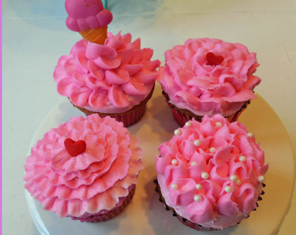 Roses and Ruffles Cupcakes
