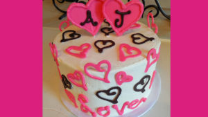 Simple Chocolate Candy Hearts Cake YOU can Make