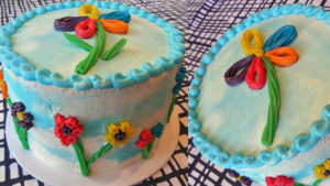 Super Simple Flower Cake YOU can Make