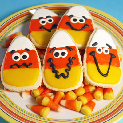 Halloween Cookies – Candy Corn, Bat, Cat