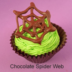 Easy Chocolate Spider Webs for Halloween