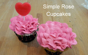 Simple to Make Rose Cupcakes