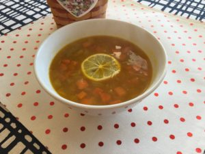 Lemon Turmeric Vegetable Soup