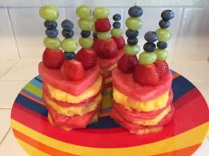 Mini Dessert Cakes using Fresh Fruit