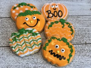 Halloween Cookies using Royal Icing
