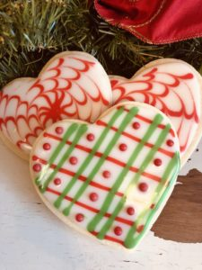 Christmas Heart Sugar Cookies
