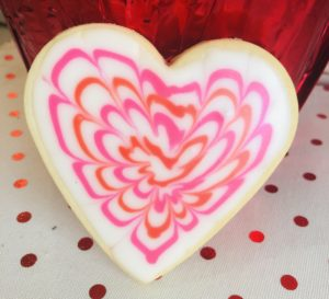 Beautiful Heart Sugar Cookie