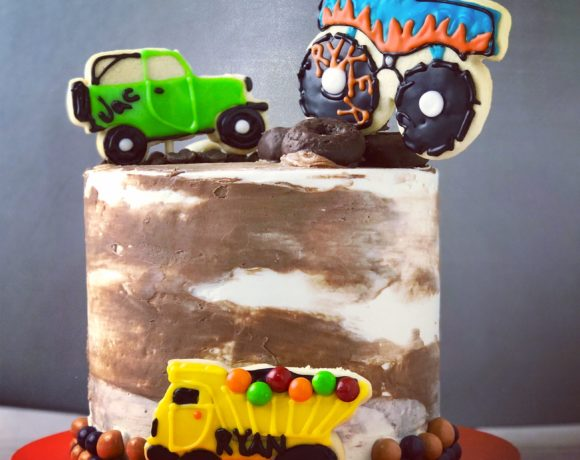 Monster Truck & Car Cake