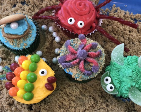 Adorable Sea Creature Cupcakes